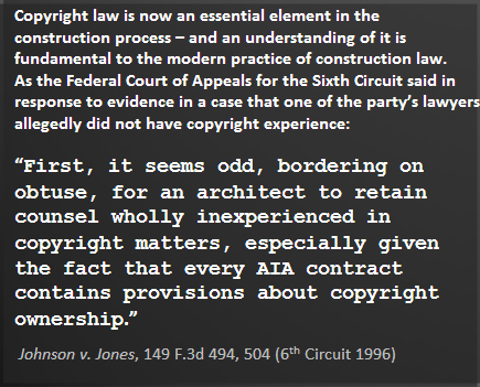 Copyright Law Essential to Ptojects